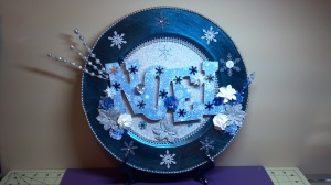 Christmas Noel Charger Plate