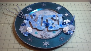 Christmas Noel Charger Plate - Flat View