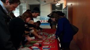 Attendees Having Fun Making Cards