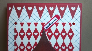 Sending You Kisses Birthday Card - Close Up Top