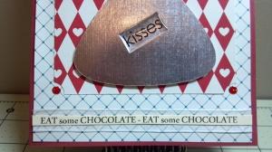 Sending You Kisses Birthday Card - Close Up Bottom