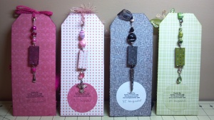 Prima Doll Tags Back with Domino Charms