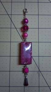 Fuschia Altered Domino Charm