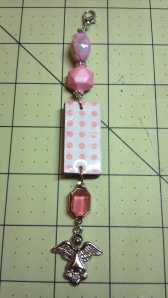 Pink Altered Domino Charm