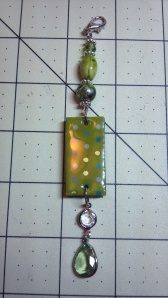 Green Altered Domino Charm