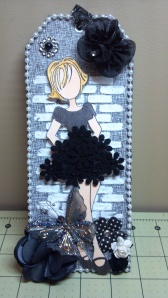 Black Prima Doll Tag