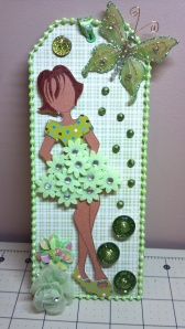 Green Prima Doll Tag
