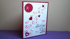 Birthday Love Card - Angle View