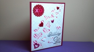 Birthday Love Card - Angle View