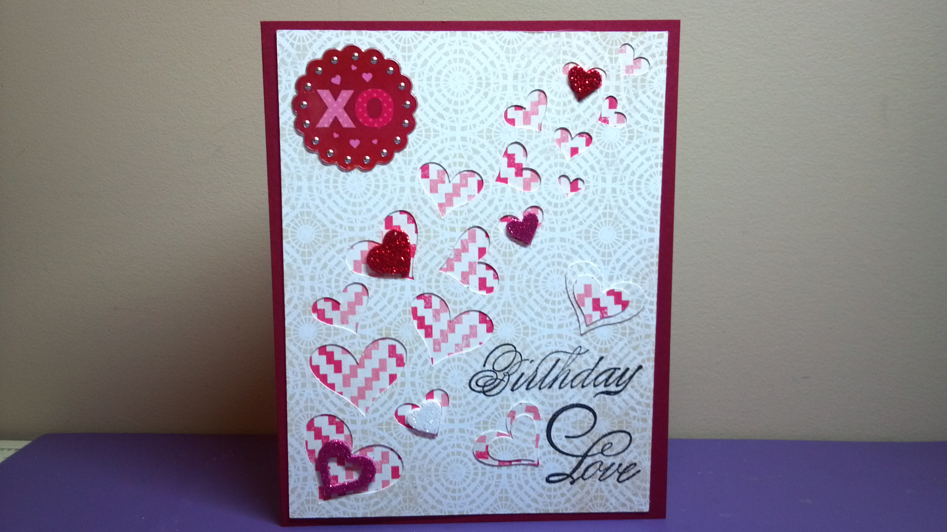 Birthday Love Card The Cutting Cafe Design Team Project The