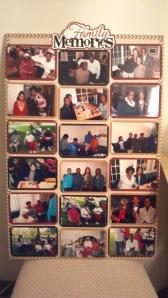 Family Memories Photo Board