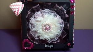 Handmade Embellishment Box and Flower Headband - Close Up