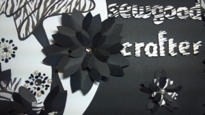 Craft Room Name Plate Flower Close Up