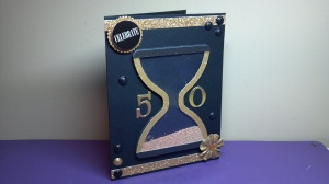 Hourglass Birthday Shaker Card