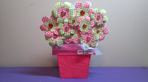 Flower Pot Shaped Card