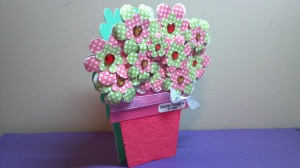 Flower Pot Shaped Card 2