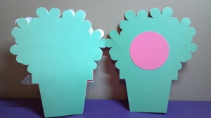 Flower Pot Shaped Card Inside