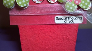 Flower Pot Shaped Card Sentiment