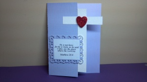 Cross Shaped Bible Verse Card
