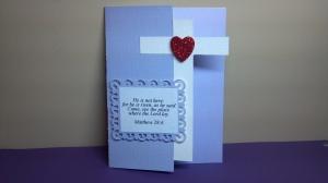 Cross Shaped Bible Verse Card