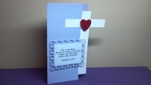 Cross Shaped Bible Verse Card View 2