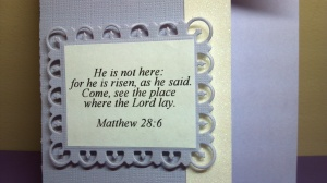 Cross Shaped Bible Verse Card - Close Up Verse