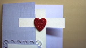 Cross Shaped Bible Verse Card - Cross Close Up