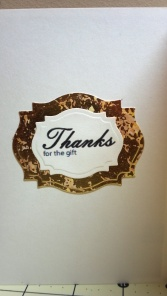 Many Thanks Thank You Card - Inside #1