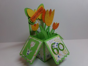 Tulip Birthday Box Card