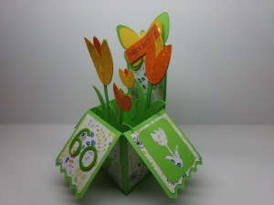 Tulip Birthday Box Card Angled View 2