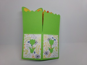 Tulip Birthday Box Card Closed View