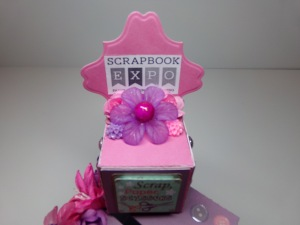 Scrapbook Expo Bank Block Close Up