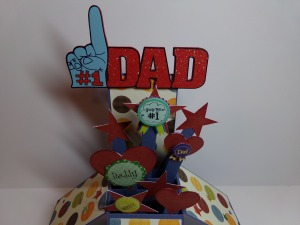 Father's Day Card in a Box Top View
