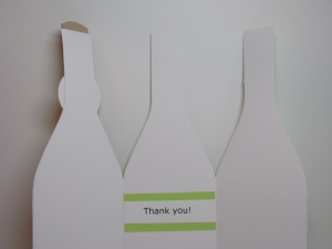 Wine Bottle Thank You Card Opened