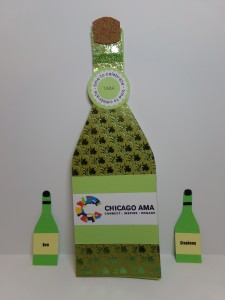 Wine Bottle Thank You Card and Gift Tags