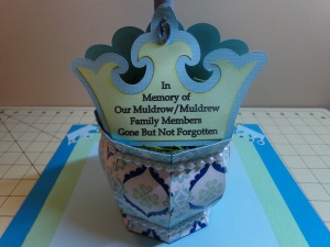 Assorted Crowns Topiary Centerpiece Female Crown Sentiment