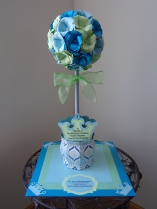 Assorted Crowns Topiary Centerpiece