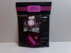 High Heel Shaped Tag with The Cutting Cafe Packaging Back