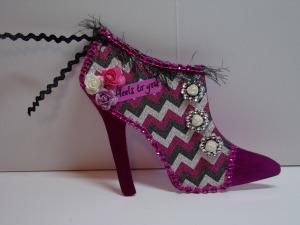 High Heel Shoe Tag