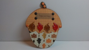 Acorn Shaped Birthday Card