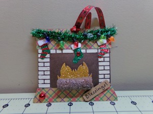 Fireplace Shaped Gift Tag