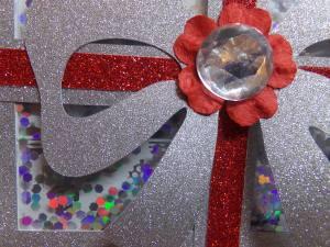 Christmas Present Shaker Card Close Up