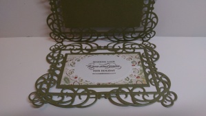 Spellbinders Christmas Card inside