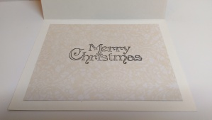 Anna Griffin Border Christmas Card Inside