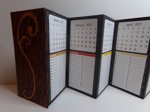 Birthday and Anniversary Calendar Keeper Close Up
