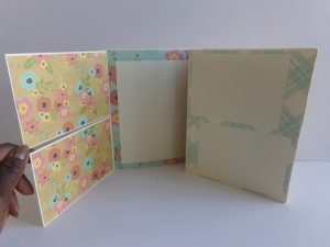 Two swing out photo mat flaps