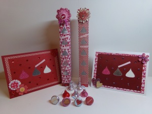 Sweet Kisses Boxes, Hershey Kiss Window Cards, and Hershey Kiss Bottoms