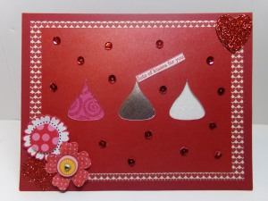 Hershey Kisses Cutout Card 2