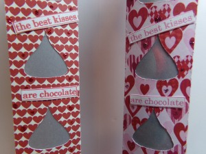 Sweet Kisses Tube Boxes Sentiment Closeup