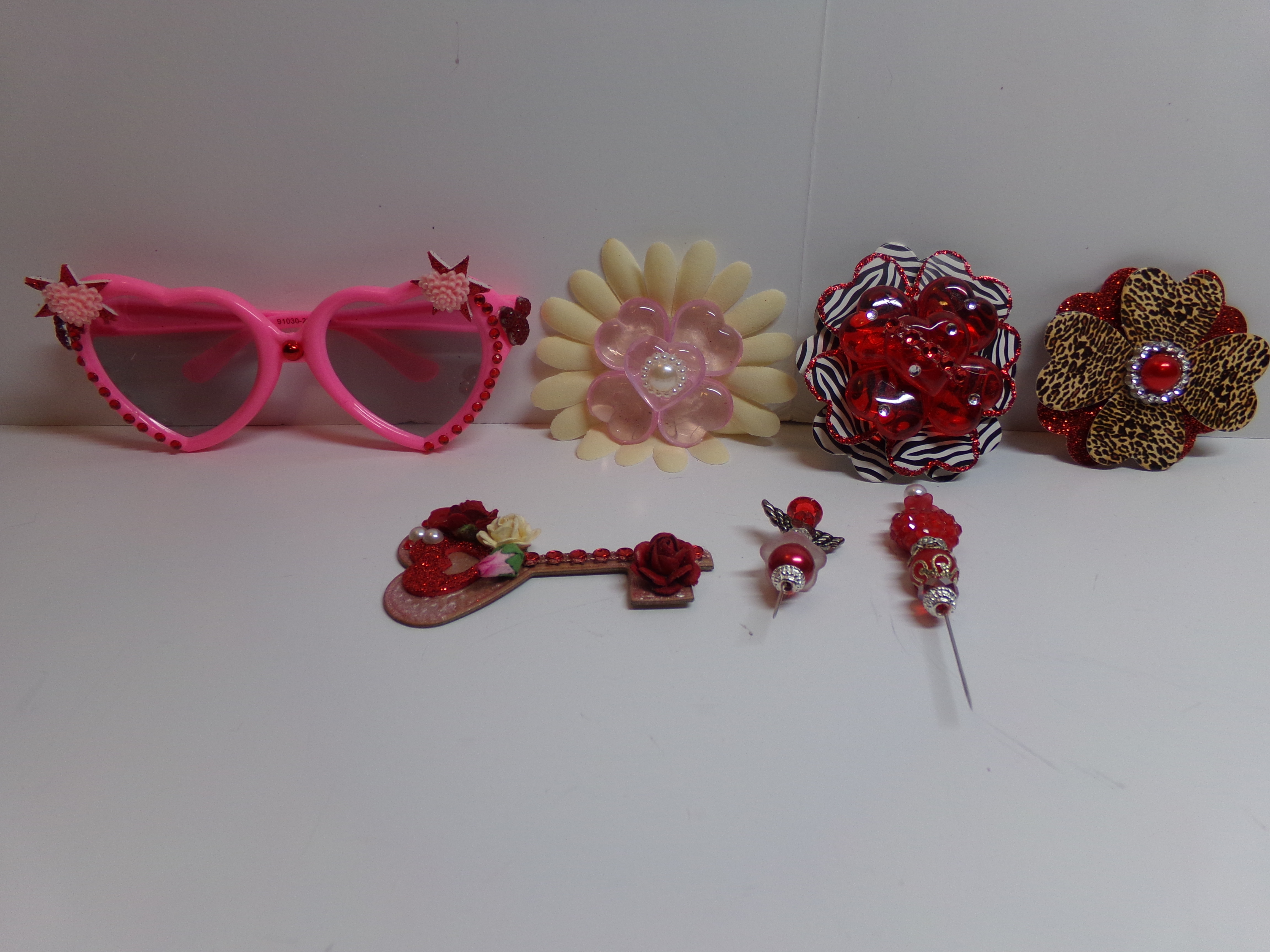 0be34276b5c CWA Challenge Items · Blinged out Sunglasses and Heart Flower